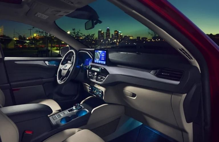 2021 Ford Escape escape infotainment features, steering, and front row