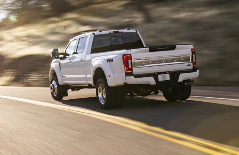 2022 Ford Super Duty on road in a lane