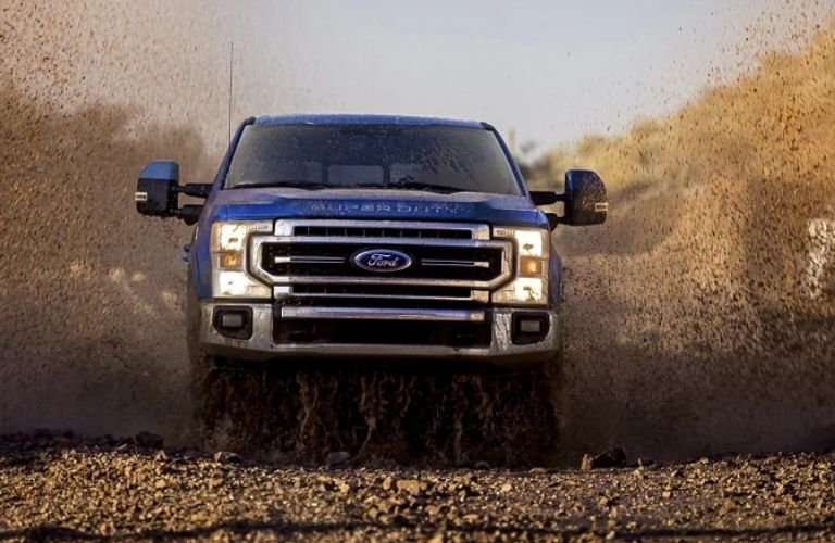 2022 Ford Super Duty racing on road